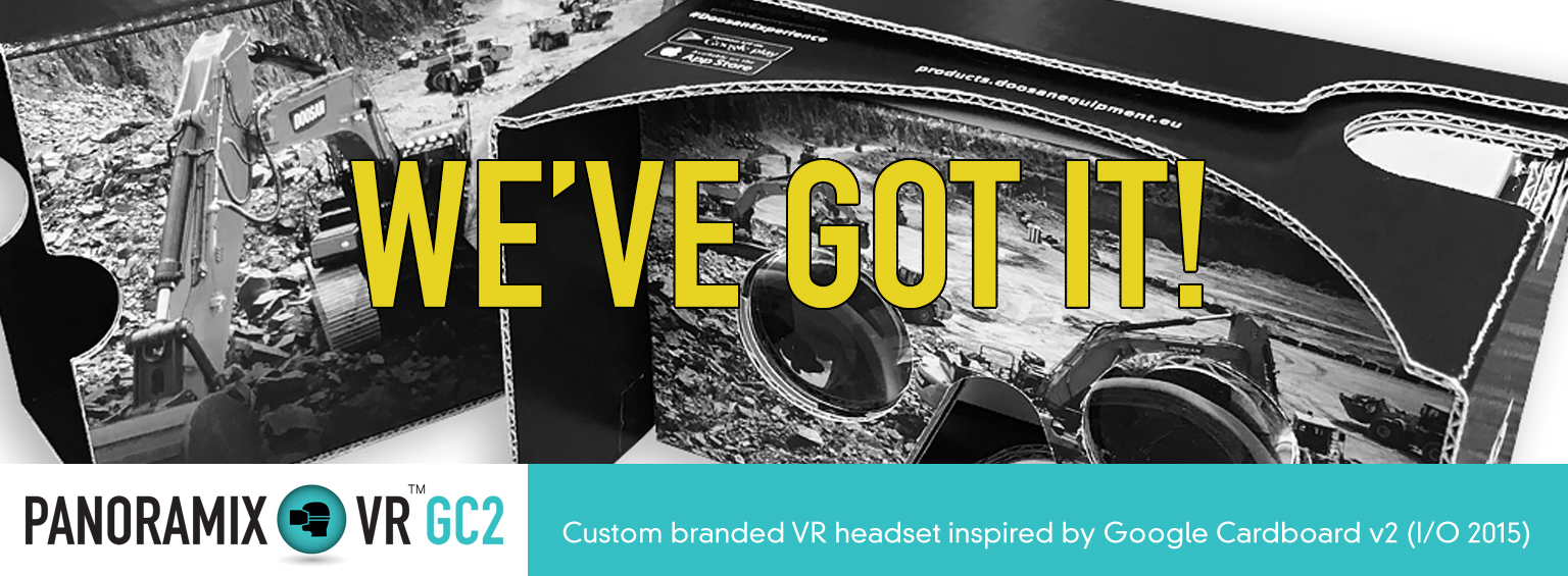 Order your customised Panoramix VR GC2 inspired by Google Cardboard